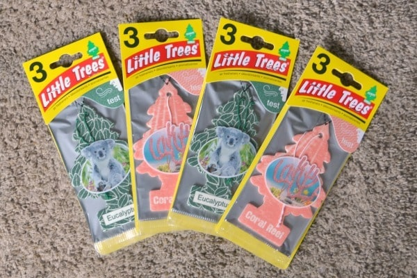 four different Little Trees car air fresheners