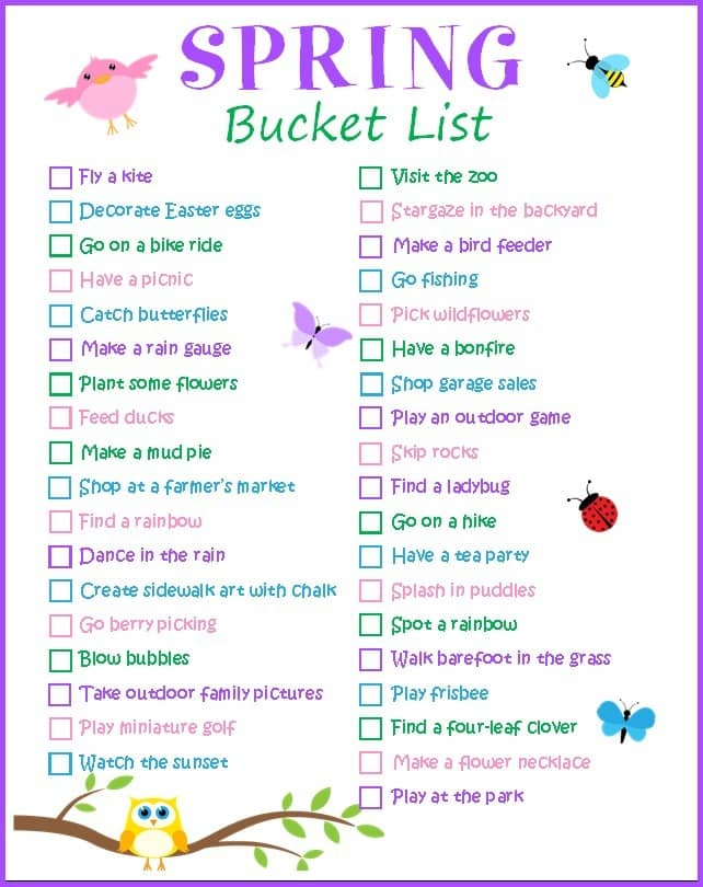 This printable scavenger hunt is a great way to get outdoors and spend some quality family time together. #printables #freeprintables #bucketlist #springprintable