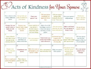 A Month of Acts of Kindness for a Stronger Marriage