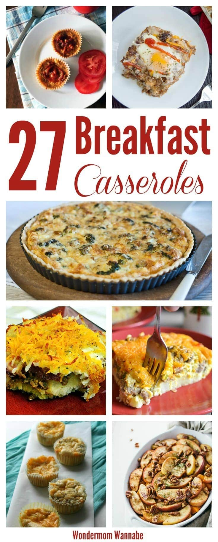 This is an awesome collection of breakfast casserole recipes for everyone including meat and potatoes lovers to vegetarians, sugar lovers, and gluten-free eaters.