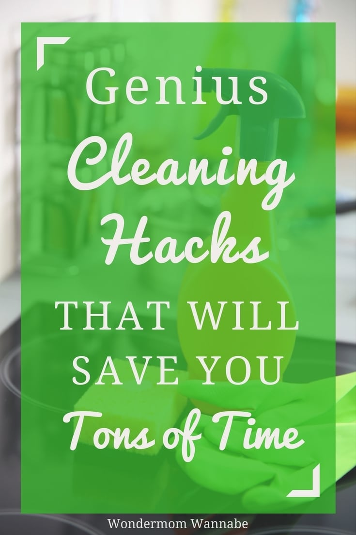 Simple, but smart cleaning hacks to make cleaning easier and faster. I didn't know about several of these!
