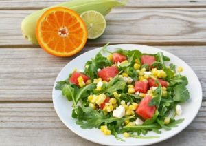 Sweet Corn and Watermelon Salad with Citrus Dressing