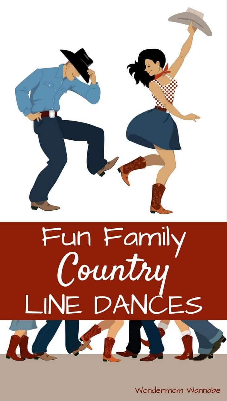 These popular country line dances are going to be so much fun to learn as a family. What a great idea for a free and easy family activity!