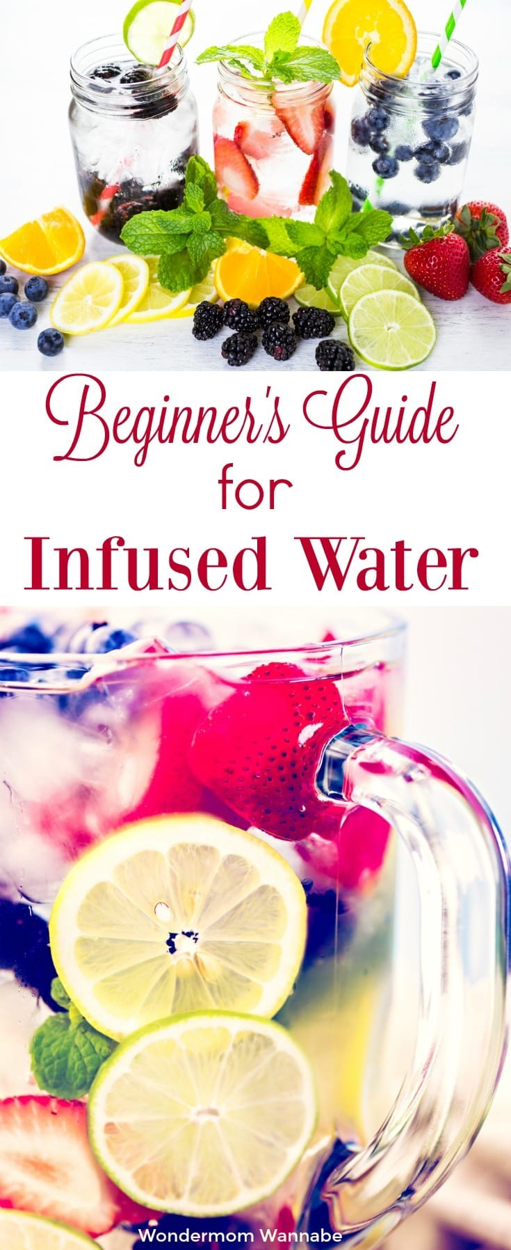 This beginner's guide to infused water walks you through everything you need to know to get started, including tips and ideal starting ingredients. #infusedwater #flavoredwater #howtoguide #beginnersguide via @wondermomwannab