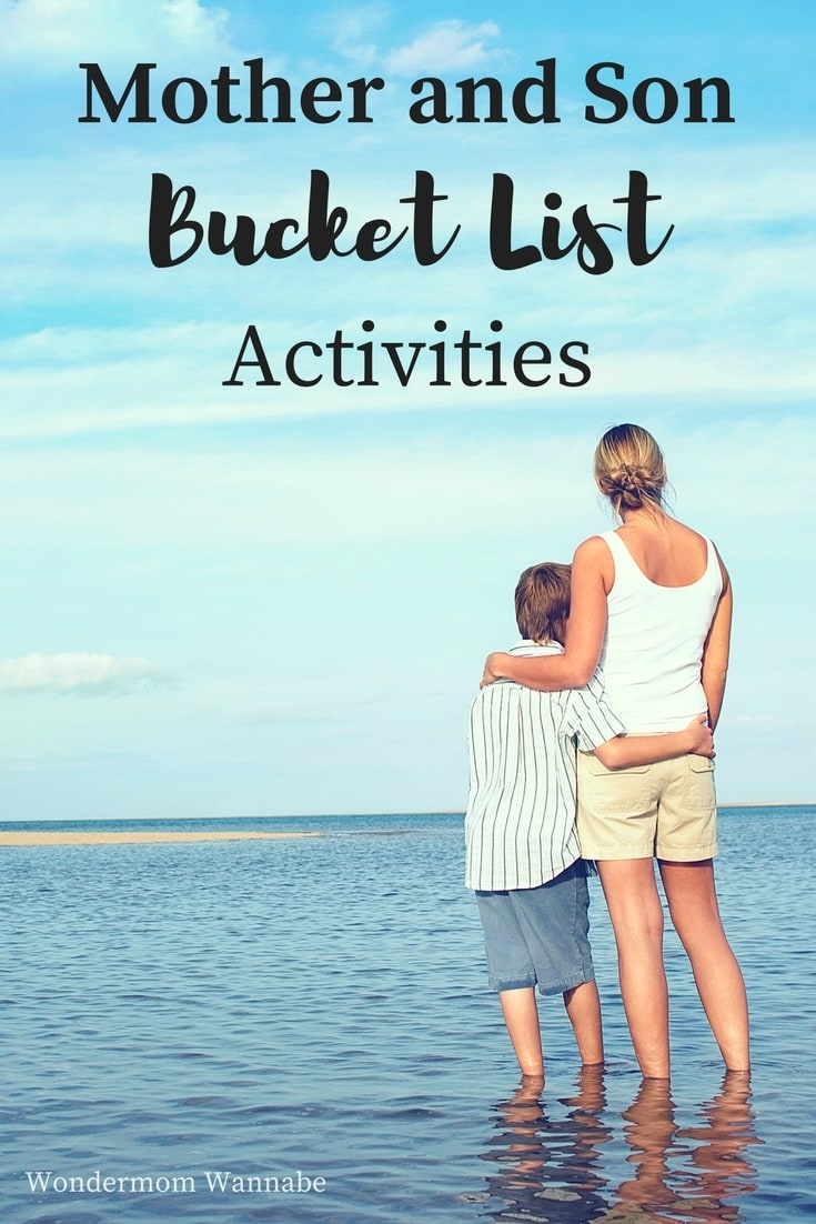 This mother and son bucket list has over 40 activities that are fun and memorable ways to strengthen your mother son relationship. #bucketlist #mothersonactivities #mothersonbonding #kidsactivities via @wondermomwannab