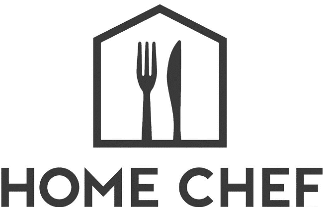 a graphic of a house with a fork and knife in it with title text reading Home Chef