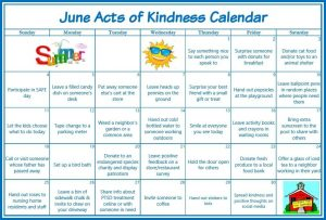 June Acts of Kindness Calendar