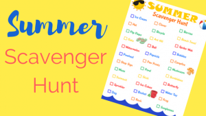 Printable Summer Scavenger Hunt
