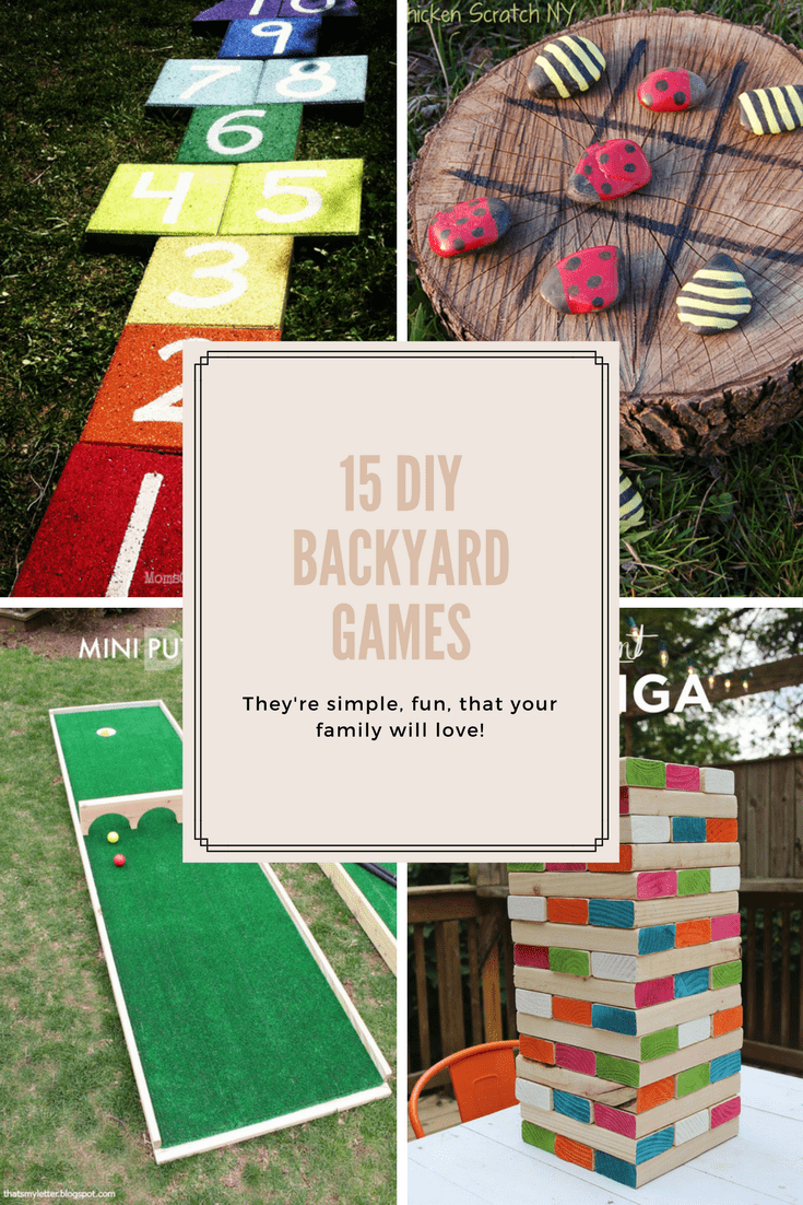These DIY Backyard Games Are As Fun To Make As They Are To Play. Easy
