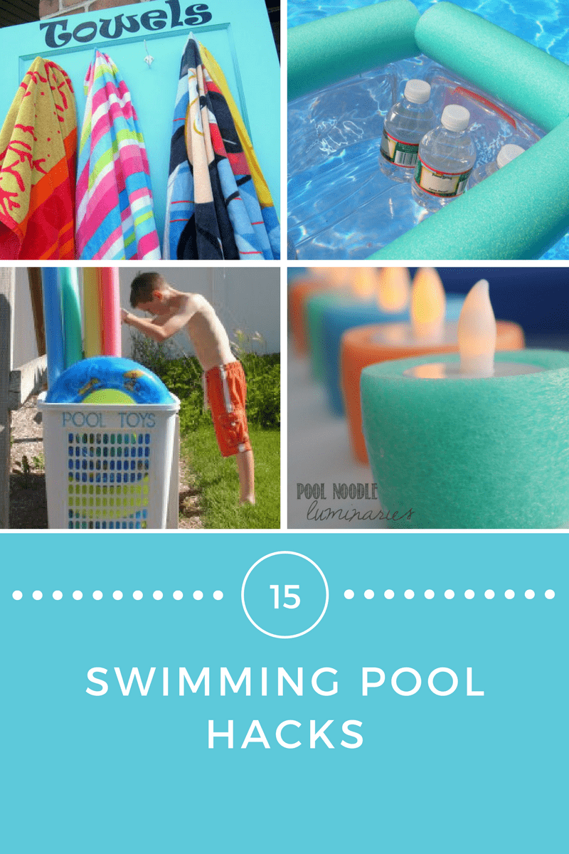 This is a great list of swimming pool hacks and a lot of them are perfect for any type of water play (even if you don't have a pool)!