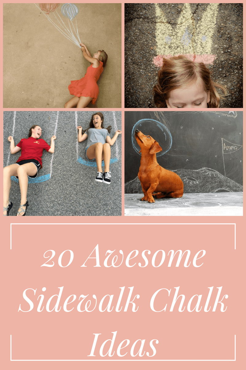 Lots of fun and creative sidewalk chalk ideas! The kids are going to love trying all of these.