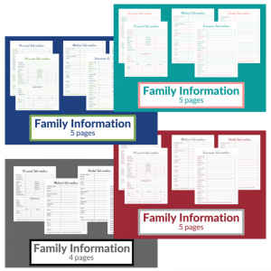 Family Information Printables