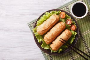 How to Make Fried Chicken Spring Rolls