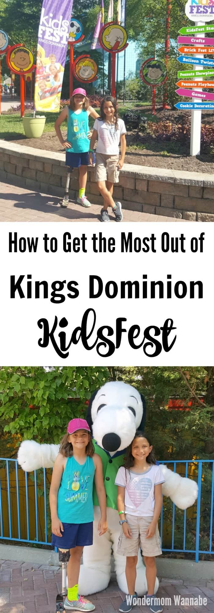 If you're planning a trip to Kings Dominion KidsFest, follow these tips to make sure you don't miss any of the fun activities. #kingsdominion #kidsfest #familyfun #funactivities via @wondermomwannab