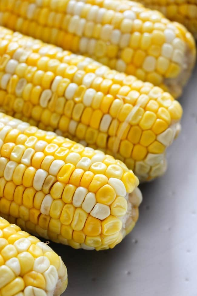 a closeup of corn on the cob