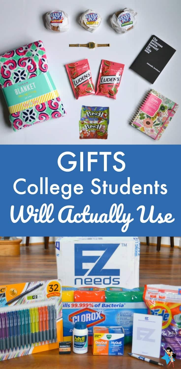 Great list of ideas for gifts college students will actually use and be happy to receive.