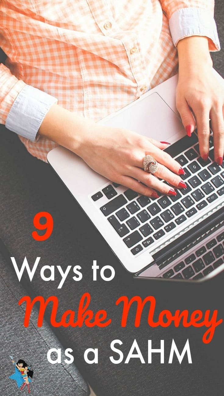 Super simple and practical suggestions to supplement your income when you're a stay at home mom.