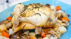 Instant Pot Whole Chicken with Vegetables