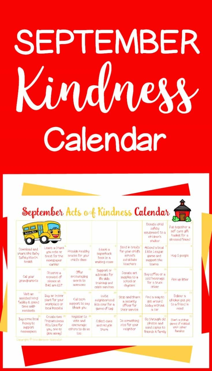 This September Acts of Kindness calendar is a simple and fun way to do nice things for others all month long. #actsofkindness #kindness #calendar #september via @wondermomwannab