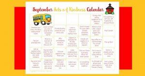 September Acts of Kindness Calendar