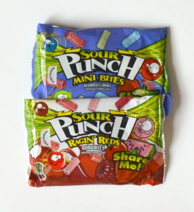 two packages of sour punch candies