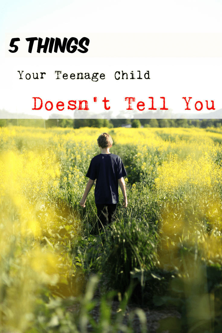 Are you concerned about not knowing what your teen is experiencing? Here are five things your teenage child goes through, and doesn't tell you. #teen #teenager #parentingteens #parentingtips via @wondermomwannab
