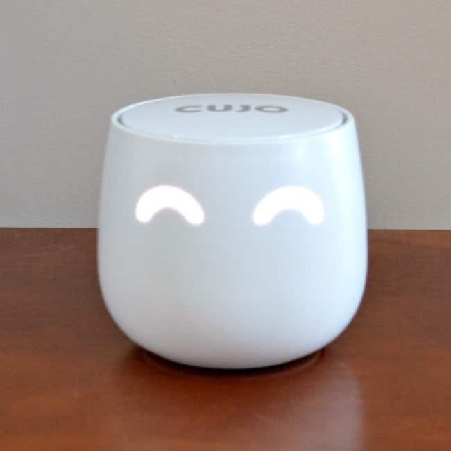 cujo smart firewall device on a brown table