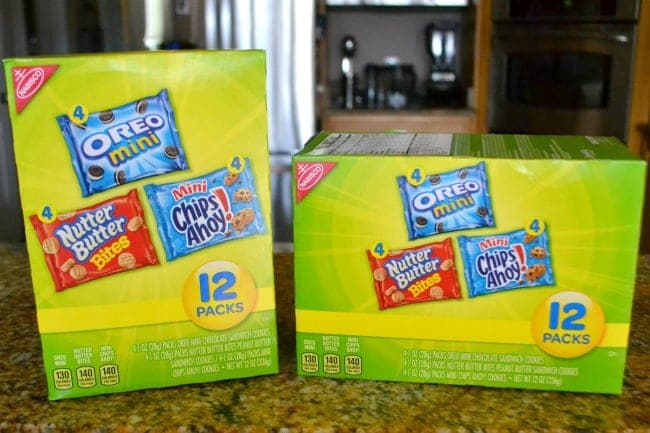 two boxes of Nabisco multipacks on a kitchen counter