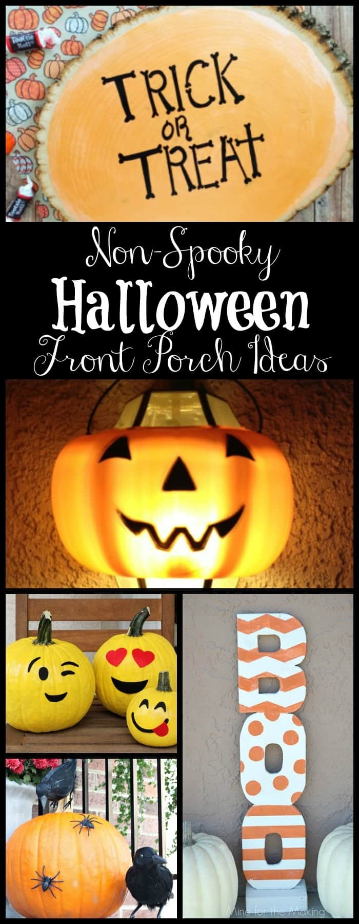non-spooky halloween front porch ideas