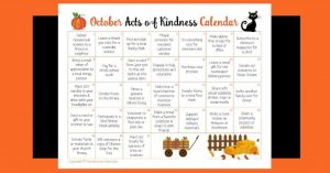 October Acts of Kindness Calendar