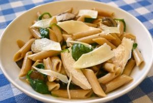 One Pot Creamy Chicken Mushroom Pasta