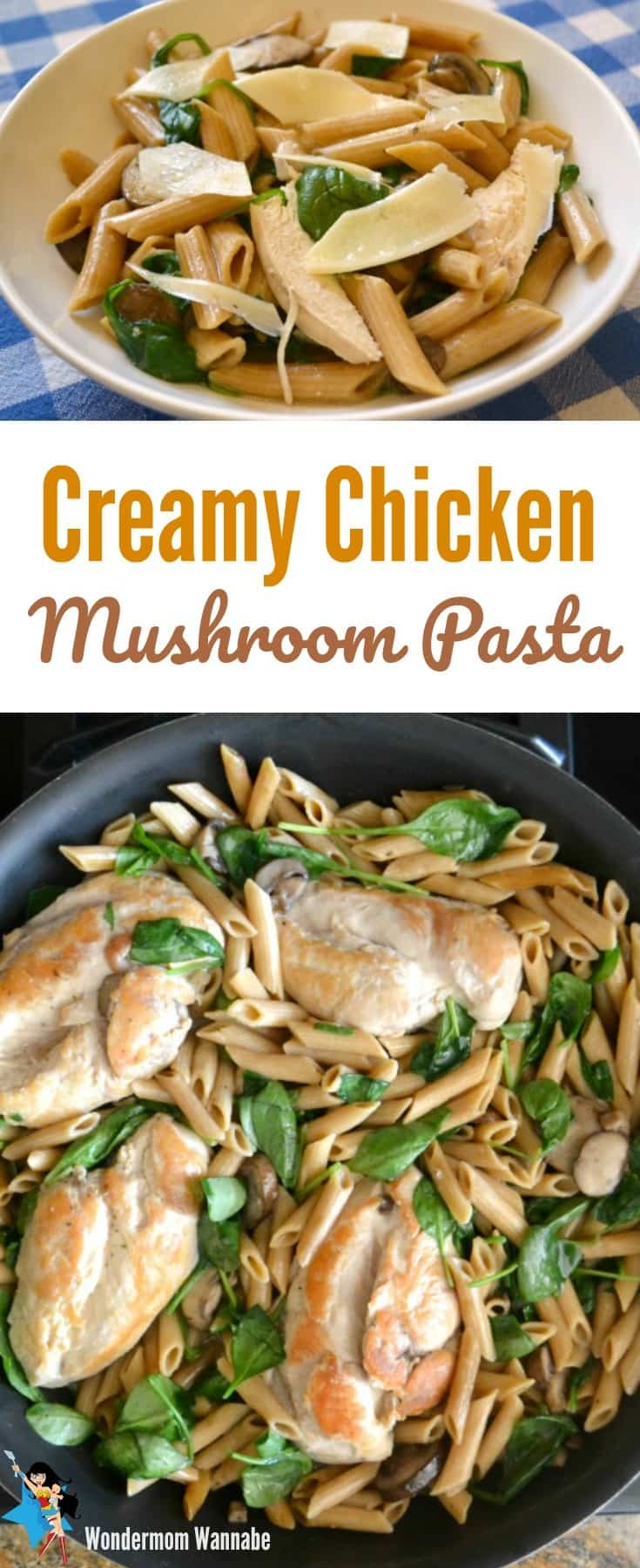 This one pot creamy chicken mushroom pasta is a fast and easy meal for busy weeknights that tastes like you spent hours in the kitchen.