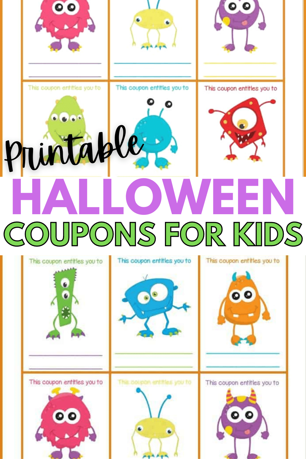 These printable Halloween coupons for kids make a fun non-candy treat for kids and are also a great way to get them to voluntarily give up candy. #printables #freeprintables #halloweenprintables #halloweencoupons #couponprintables via @wondermomwannab
