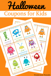 Printable Halloween Coupons for Kids