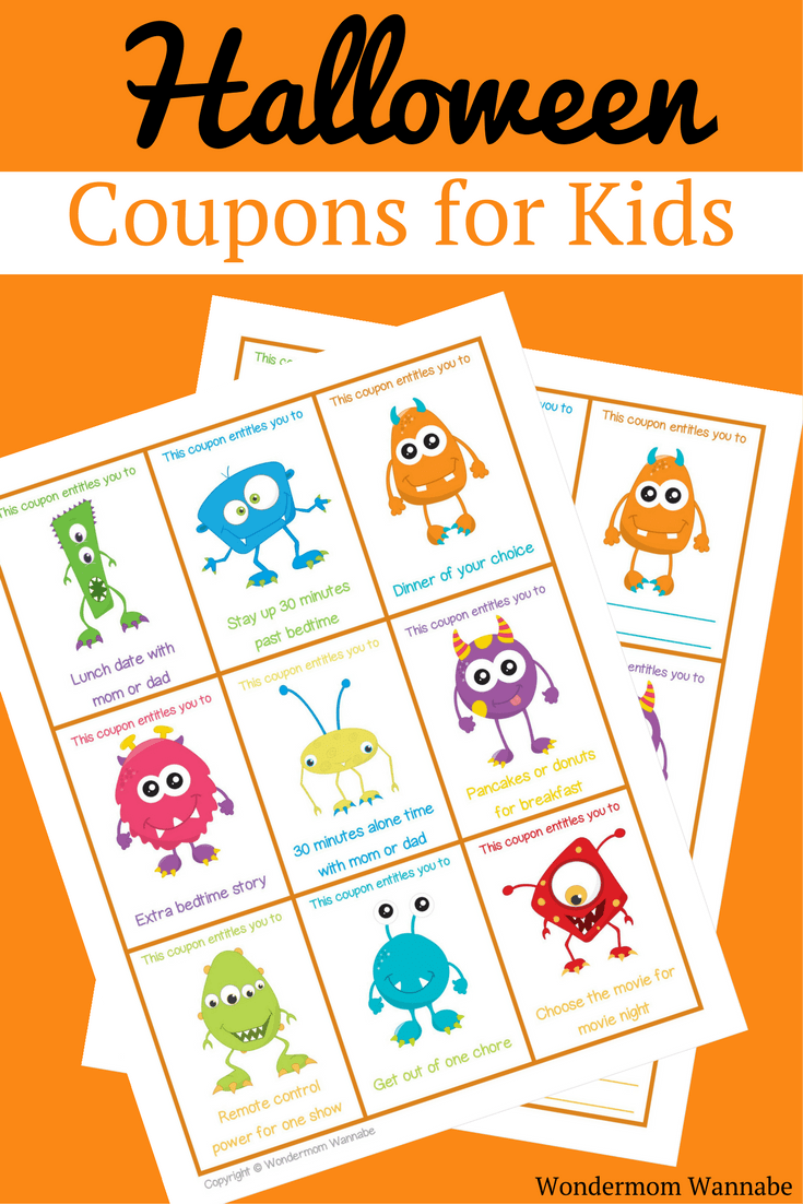 Love the idea of having my kids trade in their Halloween candy for these Halloween coupons for kids! #printables #freeprintables #halloweenprintables #halloweencoupons #couponprintables
