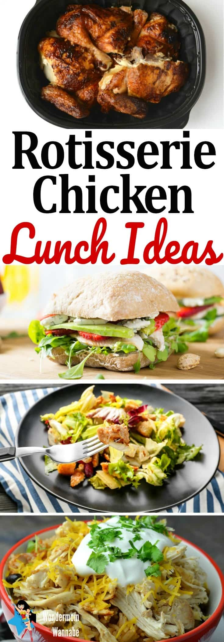 These rotisserie chicken lunch ideas show you how to take a rotisserie chicken and create a week's worth of tasty lunches.