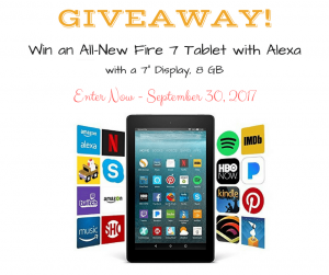 September Giveaway: Win a Kindle Fire 7 Tablet!