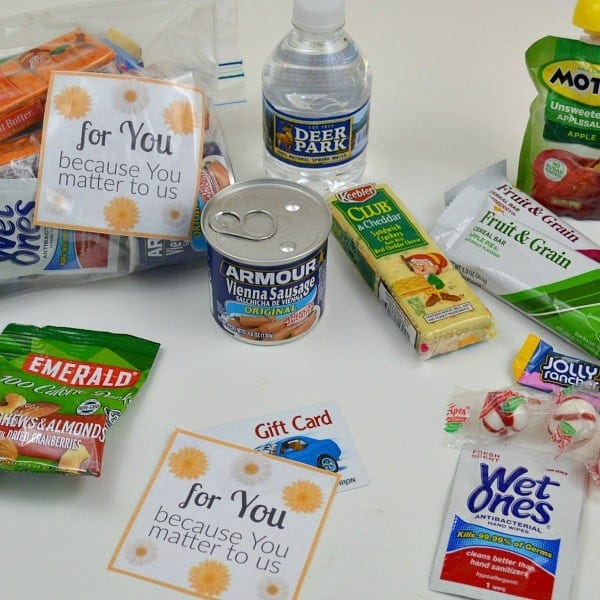 blessing bag ideas for random acts of kindness