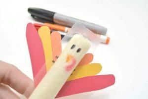 Cheese Stick Turkey Craft