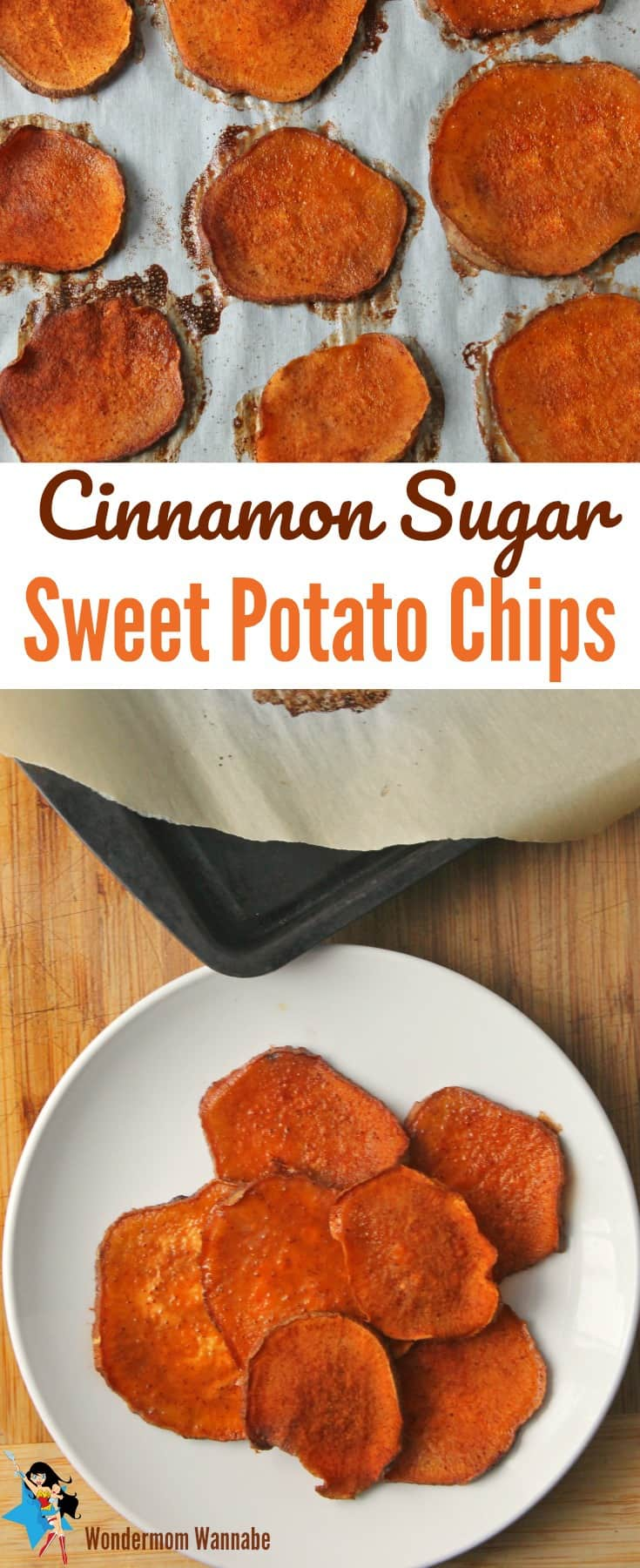 Looking for a guilt-free, delicious snack? These Cinnamon Sugar Sweet Potato Chips are perfect!