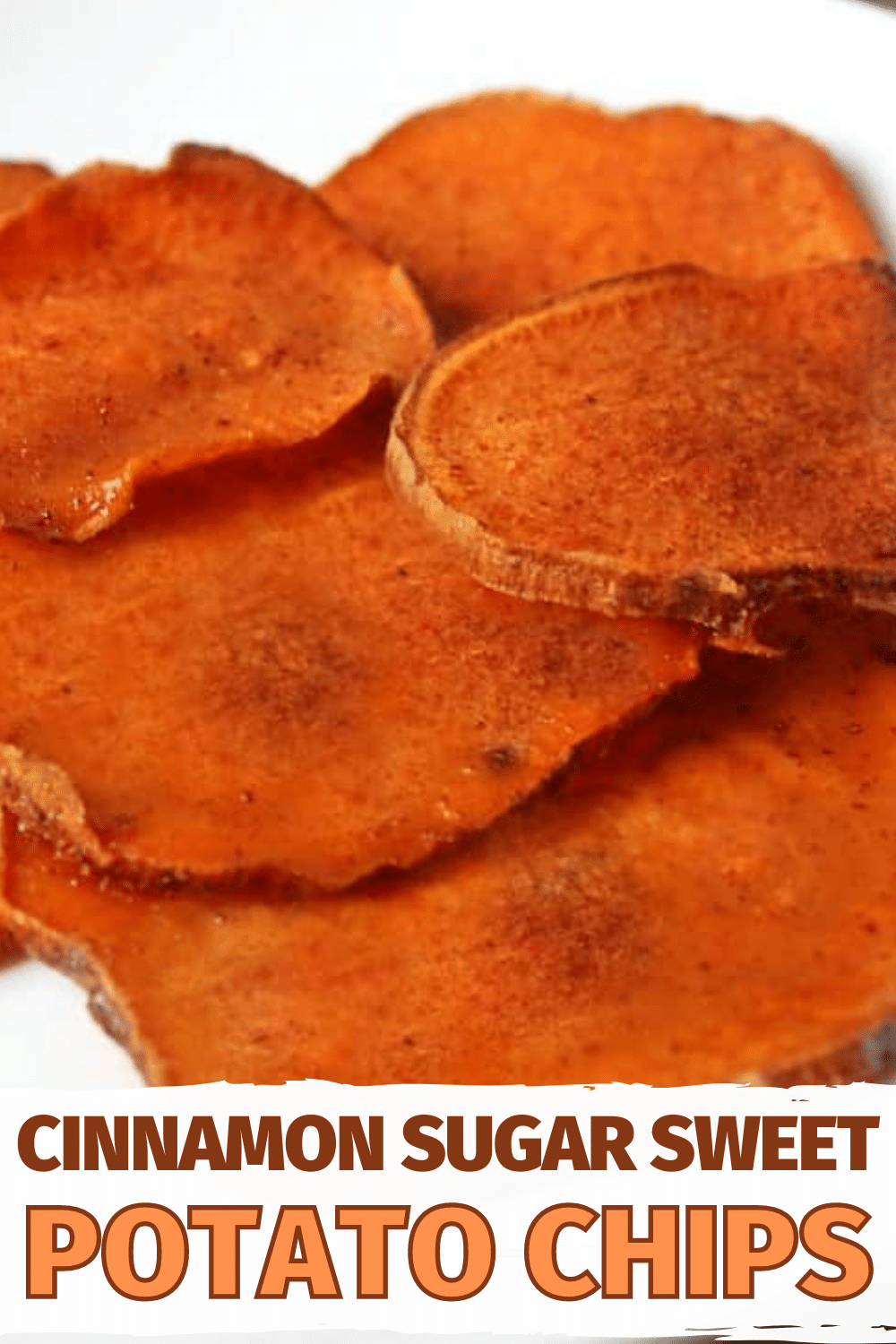 Looking for a guilt-free, delicious snack? These Cinnamon Sugar Sweet Potato Chips are perfect! #healthy #healthyeating #sweetpotatochips via @wondermomwannab