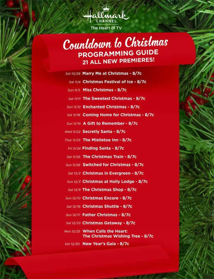 Hallmark Christmas Movie Schedule