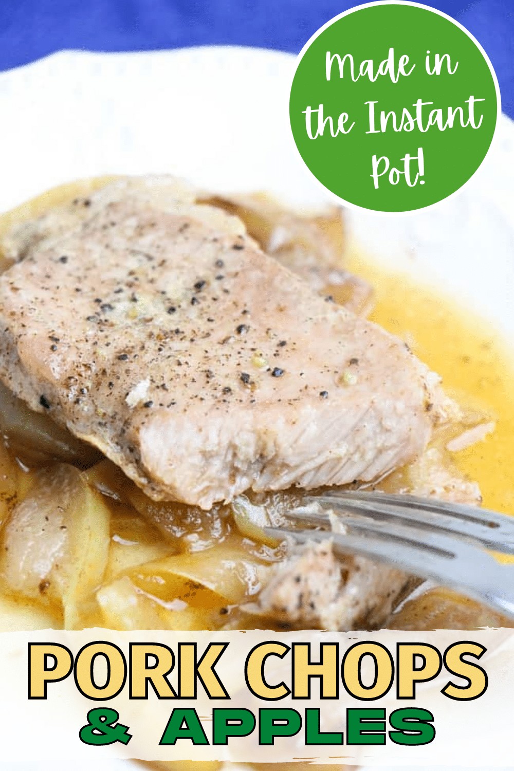 These Instant Pot Pork Chops and Apples taste great, smell great, and make the perfect easy, family weeknight dinner since kids love them too. #instantpot #pressurecooker #porkchops #dinner via @wondermomwannab