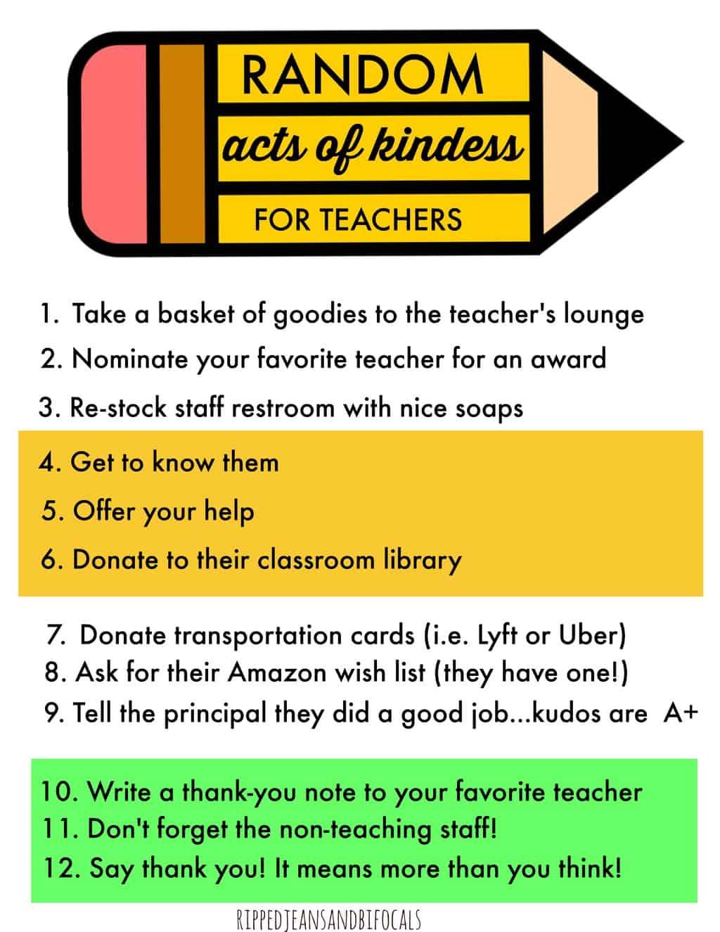 13 Random Acts Kindness Activities Childs Teacher on March Bulletin Board Ideas