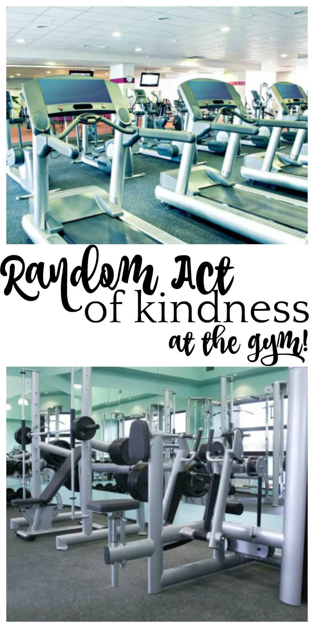 Make someone's day with a random act of kindness at the gym. Grab a free printable gift tag and brighten the day of someone who has just worked out. #randomactsofkindness #kindness #gym #workout via @wondermomwannab
