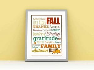 These Free Fall Printables Make Fall Decorating Easy