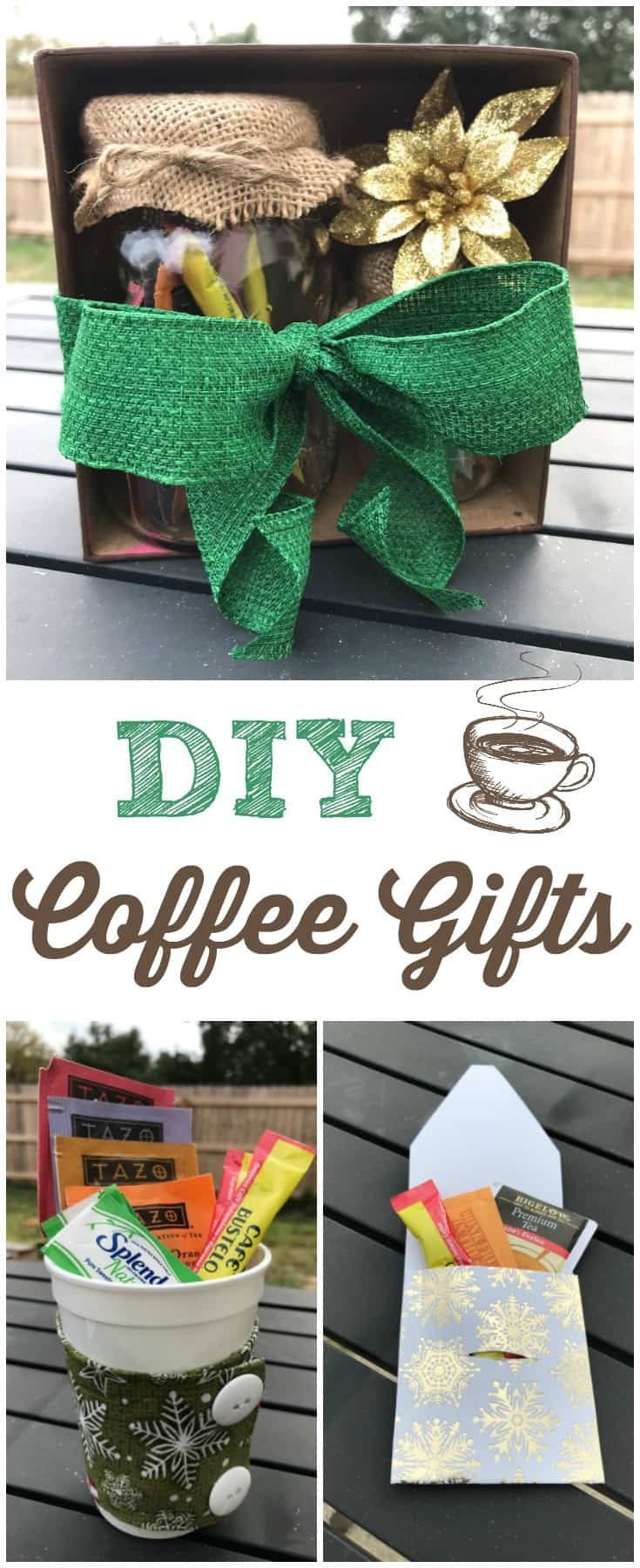 These DIY Coffee Gifts are a wonderful way to perform random acts of kindness for anyone who loves coffee (and they also work great for tea drinkers!). #giftideas #coffee #DIYgifts #randomactsofkindness via @wondermomwannab