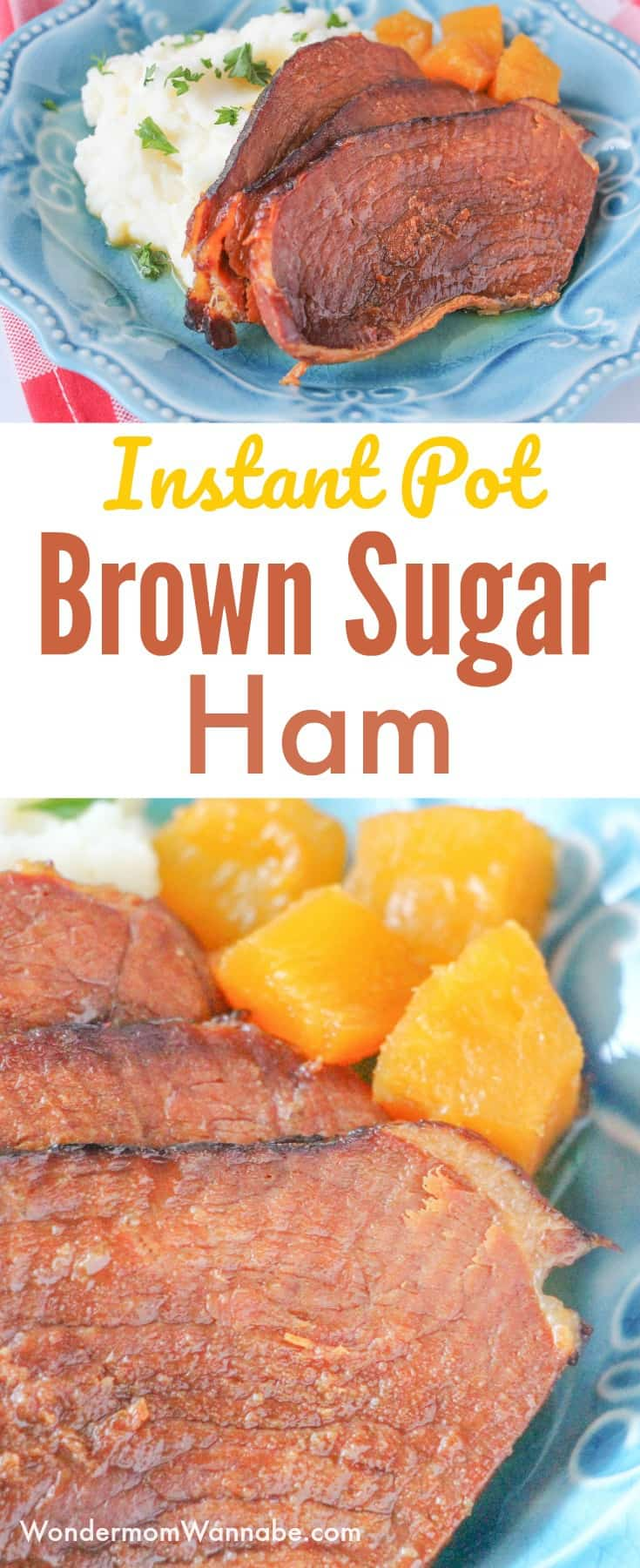 This Instant Pot Brown Sugar Ham is the perfect main dish for Sunday or holiday dinners. You won't believe how easy it is! #instantpot #ham #easydinner #easyrecipes