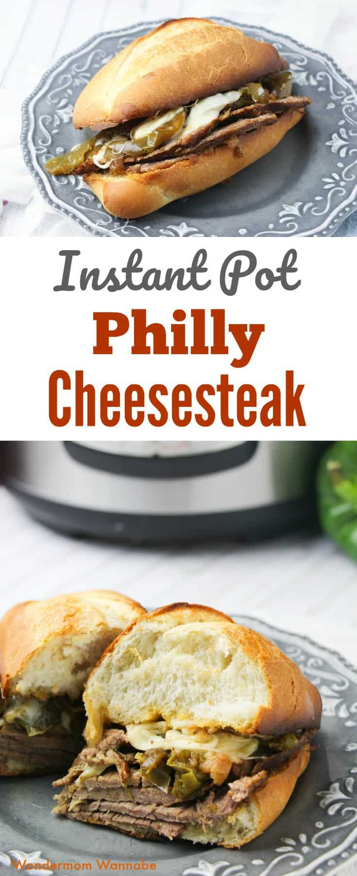 These Instant Pot Philly Cheesesteak Sandwiches are always a hit at dinner, especially with the kids! #instantpot #pressurecooker