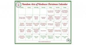 Random Acts of Kindness Christmas Calendar for Kids